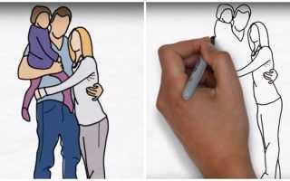 Как нарисовать семью? Пособие для родителей и детей. Поэтапное видео по мастер-классу рисования семьи с мамой, папой и дочкой