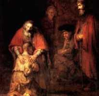 Картина рембрандта возвращение блудного. Сочинение по картине рембрандта возвращение блудного сына
