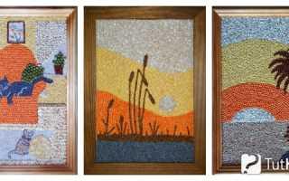 Удивительные картины из крупы, макарон, кофе, скорлупы. Картины из продуктов и съедобные ландшафты