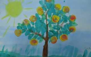 Рисование яблоня с золотыми яблоками старшая группа. Конспект НОД по рисованию в нетрадиционной технике «Яблоня с золотыми яблоками» (старшая группа)