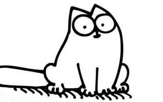 Кот саймон карандашом с новосельем. Как нарисовать кота Саймона простым карандашом поэтапно