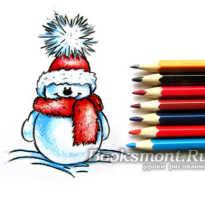 Снеговик карандашом поэтапно для начинающих. Как нарисовать снеговика карандашом поэтапно