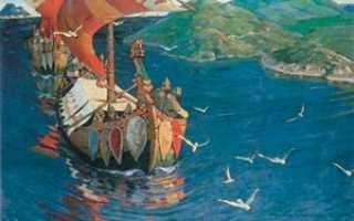 Мое впечатление о картине рериха заморские гости. Сочинение по картине Рериха «Заморские гости