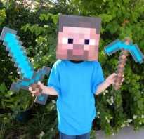 Как сделать бумажный меч из Minecraft. Майнкрафт из бумаги: инструкции, схемы и описания