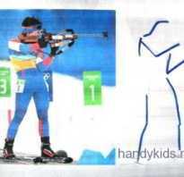 Нарисовать рисунок на тему спорт поэтапно. Зимние виды спорта — как нарисовать биатлониста