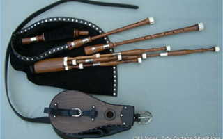Шотландский музыкальный инструмент волынка. Виды волынок: шотландская Highland Bagpipes, ирландская Uilleann Pipes, Гайта и другие