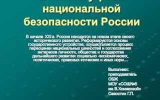 Военные угрозы национальной безопасности России. Обеспечение национальной безопасности