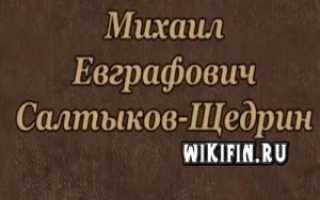 Основные факты биографии салтыкова щедрина. Краткая биография салтыкова-щедрина самое главное