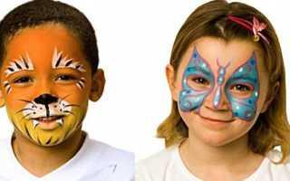 Рисунки на лице животные красками. Можно ли рисовать гуашью на лице? Какими красками можно рисовать на лице