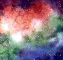 Как нарисовать космос гуашью или акварелью. Как нарисовать космос цветными карандашами