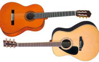 Разница в обучении акустической и классической гитарой. Чем отличается классическая гитара от акустической