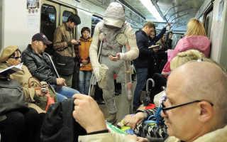 Розовый фламинго попрошайка. Розовая мумия наводит ужас на пассажиров метро (фото, видео)