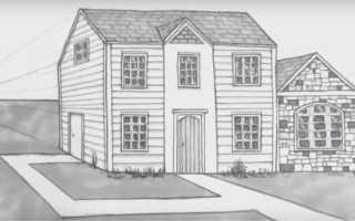 Как рисовать поэтапно карандашом красивый дом. Уроки рисования для детей: как нарисовать дом карандашом поэтапно