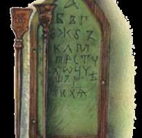 Возникновение древнерусской письменности. Русь с момента появления своей языковой азбуки