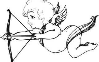 Как поэтапно нарисовать силуэт купидона для вырезания. Рисуем ангела любви: как нарисовать купидона