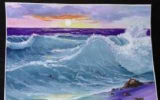 Как рисовать море и волны гуашью поэтапно. Морской пейзаж – рисуем с детьми гуашью Морские рисунки поэтапно