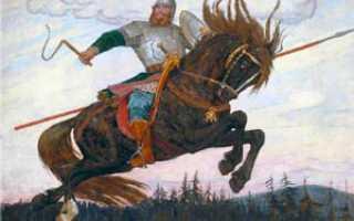 Картина васнецова богатырский скок описание. Описание картины Васнецова «Богатырский скок