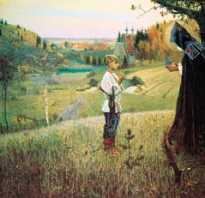 Видение отроку. Сочинение – описание картины Михаила Нестерова «Видение отроку Варфоломею